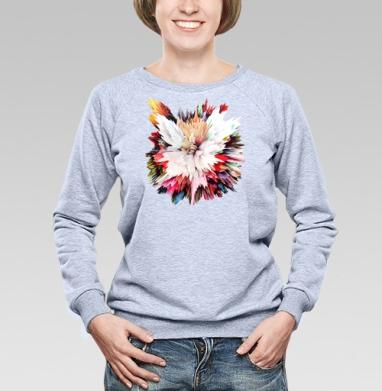 Цветочный взрыв - Купить детские свитшоты абстрактные в Москве, цена детских свитшотов абстрактных  с прикольными принтами - магазин дизайнерской одежды MaryJane