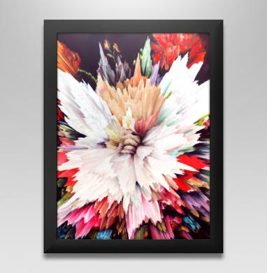 Цветочный взрыв, Постер в чёрной раме