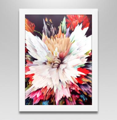 Цветочный взрыв, Постер в белой раме