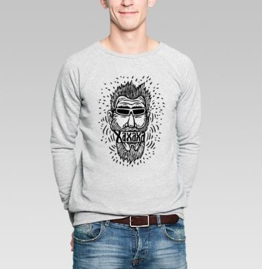 Смех или хорошее настроение - Купить мужские свитшоты с усами в Москве, цена мужских свитшотов с усами  с прикольными принтами - магазин дизайнерской одежды MaryJane