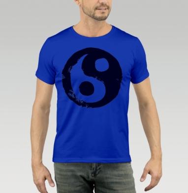 Футболка мужская синяя - Дао
