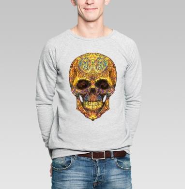 Весёлый череп - Купить мужские свитшоты Текстуры в Москве, цена мужских свитшотов Текстуры с прикольными принтами - магазин дизайнерской одежды MaryJane
