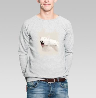 Любовь - Купить мужские свитшоты с собаками в Москве, цена мужских свитшотов с собаками  с прикольными принтами - магазин дизайнерской одежды MaryJane