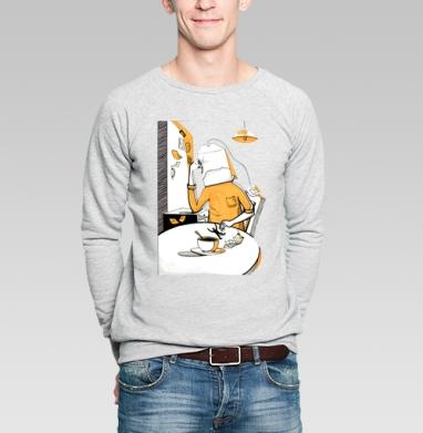 Чаепитие - Купить мужские свитшоты с персонажами в Москве, цена мужских свитшотов с персонажами  с прикольными принтами - магазин дизайнерской одежды MaryJane