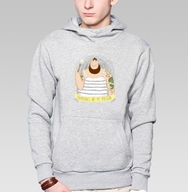 Страсть к пельменям - Купить толстовку мужскую с капюшоном