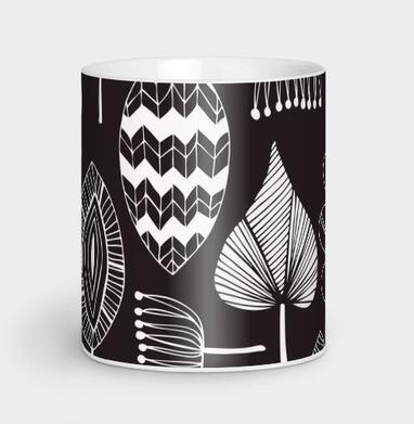 Black & white leaves - осень, Новинки