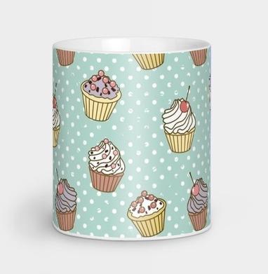 Retro cakes pattern - ретро, Новинки