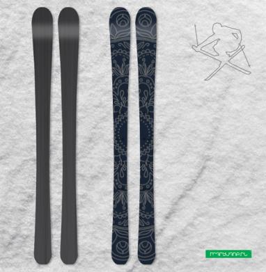 Мандала-тату - Наклейки на лыжи