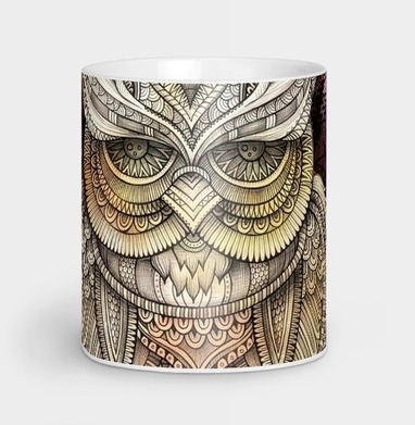 Doodle owl - Кружка, olkabalabolka, Новинки