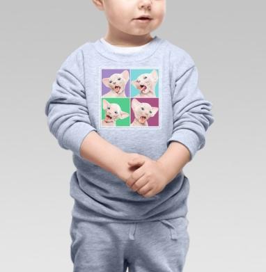 Cвитшот Детский серый меланж - Фейсбилденг