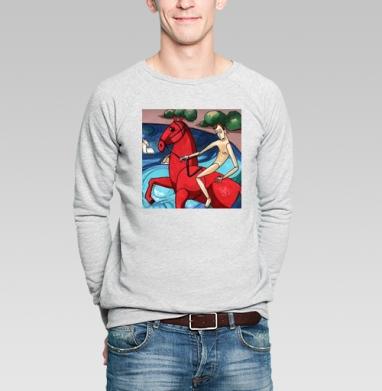 Купание красного коня - Купить мужские свитшоты с летом в Москве, цена мужских  с летом  с прикольными принтами - магазин дизайнерской одежды MaryJane