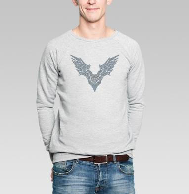 Летучая мышь - Купить мужские свитшоты абстрактные в Москве, цена мужских свитшотов абстрактных  с прикольными принтами - магазин дизайнерской одежды MaryJane
