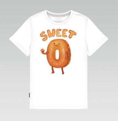 Детская футболка белая - Любитель пончиков