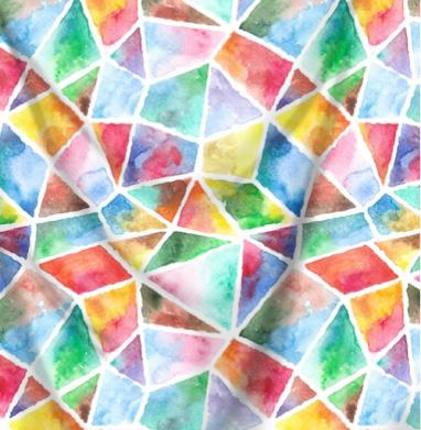 Акварельная мозаика - живопись, Популярные