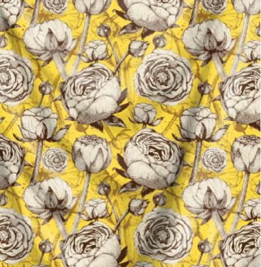 Пионы на желтом - мода, Популярные