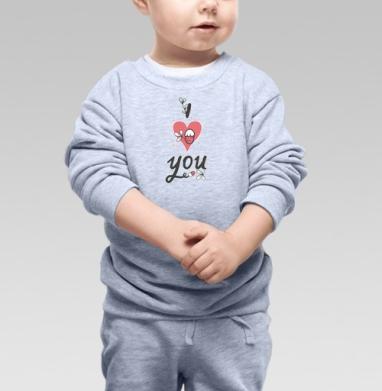 Cвитшот Детский серый меланж - Надпись