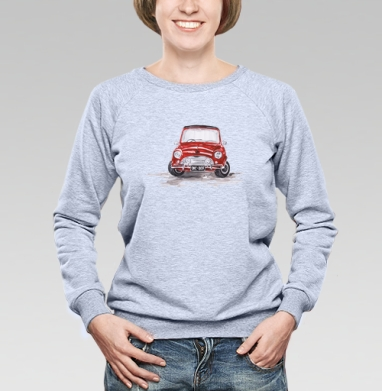 Красная машинка - Купить женские свитшоты с автомобилями в Москве, цена женских свитшотов с автомобилями  с прикольными принтами - магазин дизайнерской одежды MaryJane