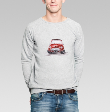 Красная машинка - Купить мужские свитшоты с акварелью в Москве, цена мужских свитшотов с акварелью  с прикольными принтами - магазин дизайнерской одежды MaryJane