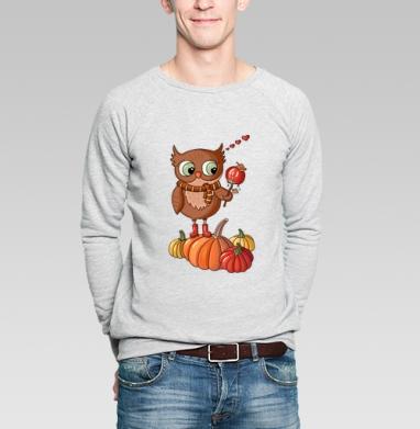 Осенняя сова  - Купить мужские свитшоты сладости в Москве, цена мужских свитшотов со сладостями  с прикольными принтами - магазин дизайнерской одежды MaryJane