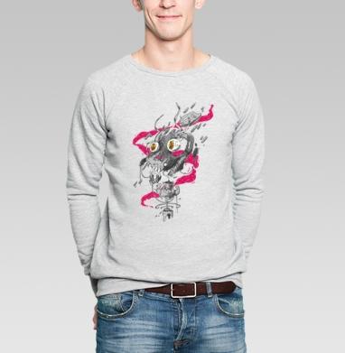 Взрыв в мясной лавке - Купить мужские свитшоты с дымом в Москве, цена мужских свитшотов с дымом  с прикольными принтами - магазин дизайнерской одежды MaryJane
