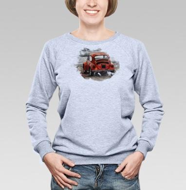 Фольксваген жук (жен.) - Купить женские свитшоты с автомобилями в Москве, цена женских свитшотов с автомобилями  с прикольными принтами - магазин дизайнерской одежды MaryJane