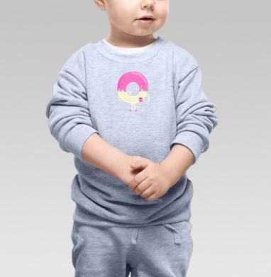 Cвитшот Детский серый меланж - Пончо