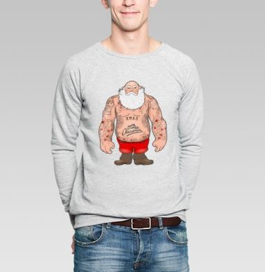 С Новым годом детишки. Брутальный Дед Мороз  - Купить мужские свитшоты с людьми в Москве, цена мужских свитшотов с людьми  с прикольными принтами - магазин дизайнерской одежды MaryJane