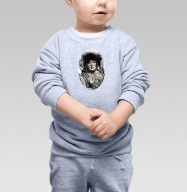 Девушка ретро - Купить детские свитшоты нежность в Москве, цена детских свитшотов нежность  с прикольными принтами - магазин дизайнерской одежды MaryJane