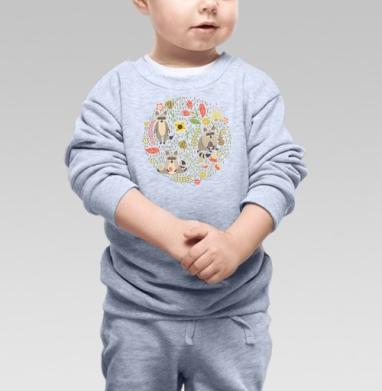 Cвитшот Детский серый меланж - Еноты