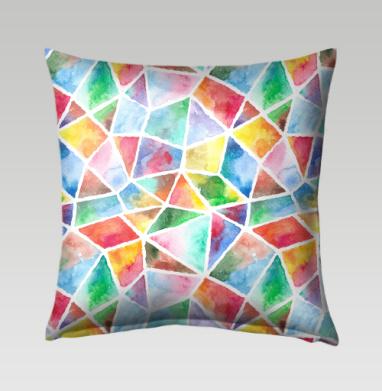 Акварельная мозаика - Подушки с принтом