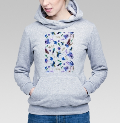 Акварельные цветы  - Купить детские толстовки с узорами в Москве, цена детских толстовок с узорами  с прикольными принтами - магазин дизайнерской одежды MaryJane
