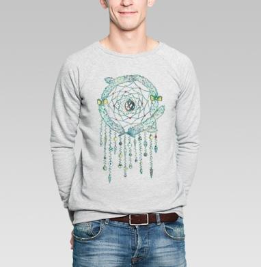 Ловец нового года - Купить мужские свитшоты Новый год в Москве, цена мужских свитшотов новогодних  с прикольными принтами - магазин дизайнерской одежды MaryJane