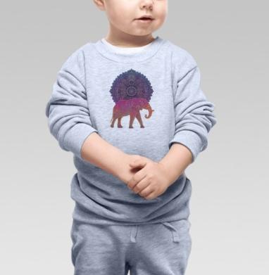 Cвитшот Детский серый меланж - Слон и солнце