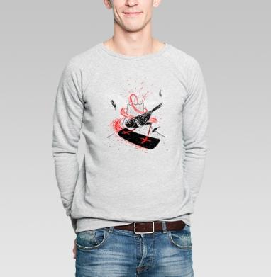 Черный воробей - Купить мужские свитшоты с птицами в Москве, цена мужских свитшотов с птицами  с прикольными принтами - магазин дизайнерской одежды MaryJane