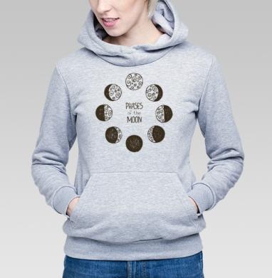 Фазы луны - Купить детские толстовки с космосом в Москве, цена детских толстовок с космосом  с прикольными принтами - магазин дизайнерской одежды MaryJane
