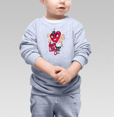 Cвитшот Детский серый меланж - Злобная вишенка