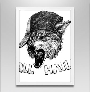Пати Вульф - Постер в белой раме, волк