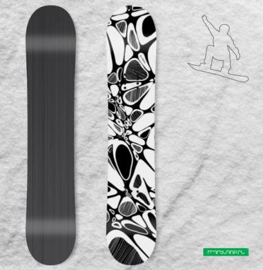 Кривули - Виниловые наклейки на сноуборд купить с доставкой. Воронеж