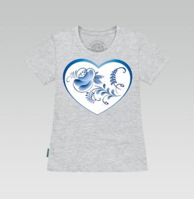 Футболка женская серый меланж - Сердце