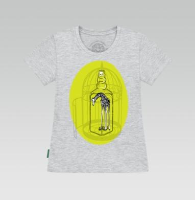 Футболка женская серый меланж - Жираф и иллюзии