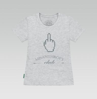 Футболка женская серый меланж - Misanthropy Club Logo