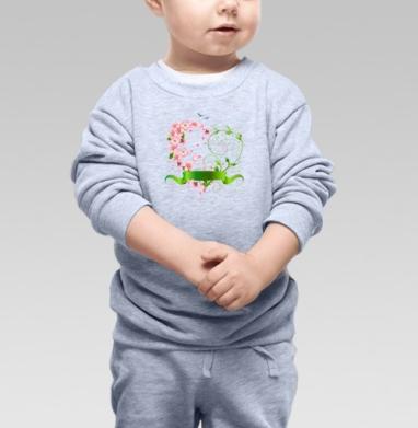 Сердечко из цветов яблони - Купить детские свитшоты романтика в Москве, цена детских свитшотов романтических  с прикольными принтами - магазин дизайнерской одежды MaryJane