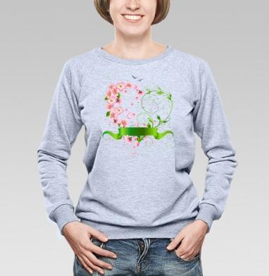 Сердечко из цветов яблони - Купить детские свитшоты с природой в Москве, цена детских свитшотов с природой  с прикольными принтами - магазин дизайнерской одежды MaryJane