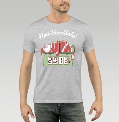 Футболка мужская серый меланж - Sale