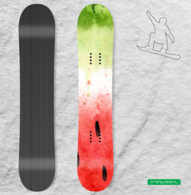 Арбузный принт - Наклейки на доски - сноуборд, скейтборд, лыжи, кайтсерфинг, вэйк, серф
