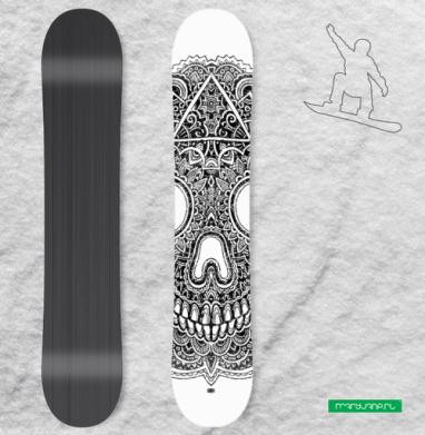 Череп - Сплошные наклейки сноуборд c черепами