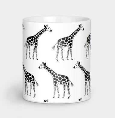 Черно-белые жирафы - Каталог женских товаров и принтов.