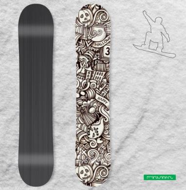 Хэллоуин  - Наклейка на сноуборд, olkabalabolka, Новинки
