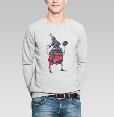 Санта - Купить мужские свитшоты Новый год в Москве, цена мужских свитшотов новогодних  с прикольными принтами - магазин дизайнерской одежды MaryJane