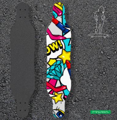 Яркие женские штучки - Наклейки на лонгборд